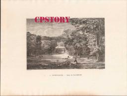 92 SAINT CLOUD < GRAVURE 19e Signé E. MOUARD - DESSIN De DAUBIGNY - Prenten & Gravure