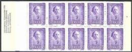 ZWEDEN 1970 Postzegelboekje Nobel 1910 10x 45õre PF-MNH-NEUF - Carnets
