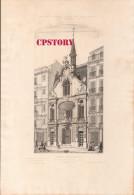 75009 - PARIS < HOTEL Du FIGARO  IMPRIMERIE JOURNAL Au 26 RUE DROUOT < GRAVURE 19e Signé BORDET - Prints & Engravings