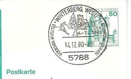 ALLEMAGNE DEUTSCHLAND GERMANY SKI ALPIN CHAMPIONNAT WINTERBERG 5788 1980 HIVER SAPIN MEISTERSCHAFT - Ski