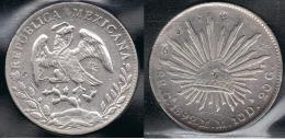 MEXICO 8 REALES CULIACAN 1892 PLATA SILVER - Mexico