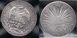 MEXICO 8 REALES DURANGO 1895 PLATA SILVER - Mexico