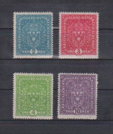 """�sterreich 1917/19: """"Wappenzeichnung auf Faserpapier""""  kpl.Satz postfrisch (siehe Foto/ Scan)"""