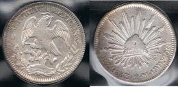MEXICO 8 REALES ZACATECAS 1843 PLATA SILVER - México