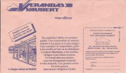 ENTIER POSTAL DE SERVICE CCP STATIONERY GANZSACHE GS FRANCE 1988 VERRE VERANDA FENETRE BOIS ALUMINIUM VAUBERT EPINAL - Glas & Fenster