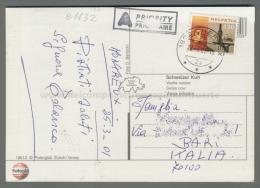 C1132 Switzerland Postal History 2001 HELVETIA 130 CHERNEX COW MUCCA (tur) - Storia Postale