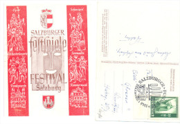 SALZBURG SALZBURGER FESTSPIELE JAHRE 1948 RARE FESTIVAL SALZBURG - 1945-60 Covers