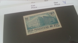 LOT 259927 TIMBRE DE FRANCE NEUF** N�424 DEPART A 1€