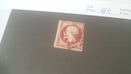 LOT 259972 TIMBRE DE FRANCE OBLITERE N�17A VALEUR 65 EUROS DEPART A 1€