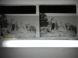 PHOTO STEREO SUR PLAQUE DE VERRE GUERRE  LA DCA - 1914-18