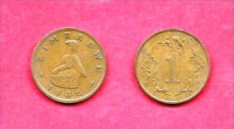 ZIMBABWE, 1980-1990, Circulated Coin, 1 Cent, Bronze, Km1, C1609 (you Get 3 Coins) - Zimbabwe
