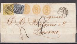 Pontificio 1866 - Piego Da Civitavecchia A Livorno - Stato Pontificio