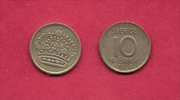SWEDEN,  1952-1960, Circulated Coin XF , 10 Ore, Bronze , KM 823, C2049 - Sweden