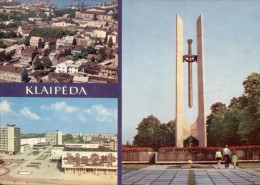 Lietuvos  -  Klaipeda (Memel) - Stadtpanorama - Prospekt Taikos - Denkmal Für Sowjetsoldaten  -  1981 - Litauen