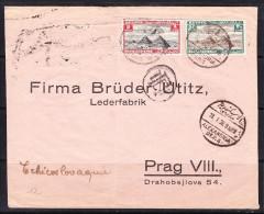 COVERS-3-21 AVIA LETTER FROM ALEKSANDRIA TO PRAHA. 18.01.1938. - Egypt