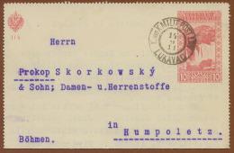 BOSNIA-AUSTRIA, COMPLETE ENVELOPE WATERFALL 10 H LUKAVAC CANCEL 1911 - Bosnie-Herzegovine