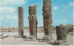 Tula Mexico, Idols Statues, Archeological Zone in Mexico, 1950s/60s Vintage Postcard