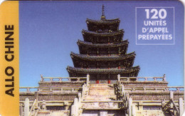 FRANCE PREPAID ANCIENNE CARTE OLD CARD ALLO CHINE PAGODE 120U  UT - Francia