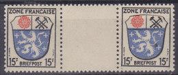 AllBes FranzZone 7 A X ZW Postfrisch **, Zwischenstegpaar - Französische Zone