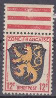 """AllBes FranzZone  6, Postfrisch **, Abart: Schwarzer Speer Duch """"FRANCA"""" Und Rahmen Mit Rotem Dorn Rechts Unten - Französische Zone"""