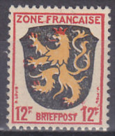 AllBes FranzZone  6, Postfrisch **, Abart: Rechte Wertziffer Oben Bis Zum Rand Verschmiert - Französische Zone