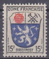 AllBes FranzZone  7, Postfrisch **, Abart: Senkrechter Riss Links Durchs Wappen - Französische Zone