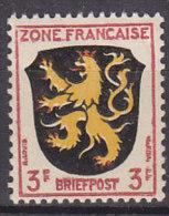 """AllBes FranzZone  2, Postfrisch **, Abart: Linke Obere Ecke Offen, Zwischen """"E"""" Und """"F"""" Roter Bogen - Französische Zone"""