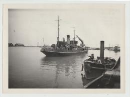"""PORT DE DUNKERQUE - BATEAU BALISEUR  """"ANDRÉ BLONDEL"""" - Photographie Datée 1949 - Format 18 X 24,3 Cm - Dunkerque"""