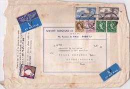 GRANDE LETTRE DE PARIS VIA LONDON A Khorramshahr(IRAN)-1959 - France