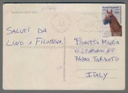 C1204 TUNISIA Postal History 1999 CHEVAL ANIMAL MAHDIA (tur) - Tunisia (1956-...)