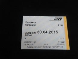 ticket METRO TRAIN HAMBOURG