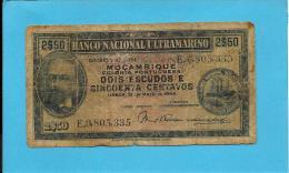 MOZAMBIQUE - 2$50 - 2,5 - 2 ESCUDOS E 50 CENTAVOS - 23.05.1944 - P 93 - ANTONIO ENNES - PORTUGAL - Mozambique