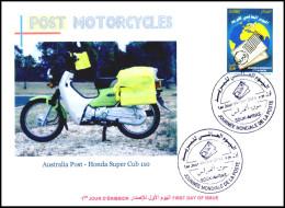 ALGERIJE 2014 - FDC - Postal Services Motorcycles - Scooter - Moto Motos - Motorcycle Motorbikes Honda - Jobs