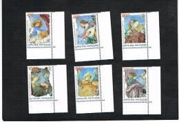 VATICANO - UNIF.1118.1123  -  1998  ANGELI MUSICANTI: MELOZZO DA FORLI' (BASILICA SS. APOSTOLI, ROMA)  - NUOVI (MINT) ** - Unused Stamps