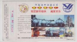 Fabrication Of Pressure Vessel,Spherical Tank Welding,CN 99 Henan Oilfield Petroleum Equipment Plant Pre-stamped Card - Oil