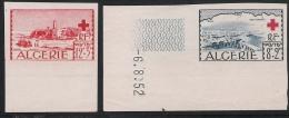 1952 ALGERIE  YV.# 300-301 NON DENTELE  NEUF** - Nuevos