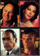 4 X Kino-Autogrammkarte  -  Repro, Signatur Aufgedruckt  -  Gene Hackman , Anthony Quinn , Ava Gardner - Autogramme