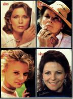 4 X Kino-Autogrammkarte  -  Repro, Signatur Aufgedruckt  -  Katharine Hepburn , Lisa Eichhorn , Faye Dunaway - Autogramme