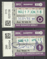 Hungary, Budapest, Monthly Tickets, 2013-2014.