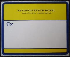 ISLAND HOTEL MOTEL MOTOR INN KEAUHOU KAILUA KONA SURF HAWAII USA TAG STICKER DECAL LUGGAGE LABEL ETIQUETTE AUFKLEBER
