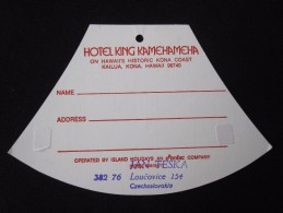 ISLAND HOTEL MOTEL MOTOR INN KING KAILUA KONA SURF HAWAII USA MINI STICKER DECAL LUGGAGE LABEL ETIQUETTE AUFKLEBER