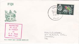 Fiji 1966 4 Shillings Parrot FDC - Fiji (1970-...)