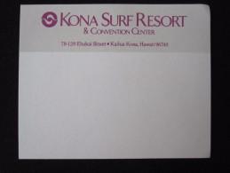 ISLAND HOTEL MOTEL MOTOR INN KONA SURF KAILUA KONA HAWAII USA STICKER DECAL LUGGAGE LABEL ETIQUETTE AUFKLEBER