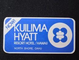 ISLAND HOTEL MOTEL INN MINI KUILIMA KAUAI WAILUA HONOLULU HAWAII USA STICKER DECAL LUGGAGE LABEL ETIQUETTE AUFKLEBER