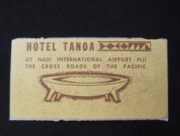 ISLAND HOTEL MOTEL HOUSE TRAVEL LODGE TANOA PACIFIC FIJI NADI STICKER DECAL LUGGAGE LABEL ETIQUETTE KOFFERAUFKLEBER