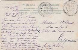 CACHET FACTEUR BOITIER LOVERDO ALGER 19/6/08 SUR CPA POUR  EYGUIERES  (timbre Hs)           TDA60 - 1877-1920: Période Semi Moderne