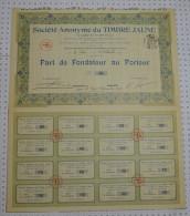 Sa Du Timbre Jaune à Lyon, Stts A St Etienne - Industrie