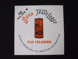 ISLAND HOTEL MOTEL TRAVEL LODGE TRAVEL AIRPORT SUVA FIJI NADI STICKER DECAL LUGGAGE LABEL ETIQUETTE KOFFERAUFKLEBER