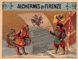 "01577 ""ALCHERMES DI FIRENZE""  ETICHETTA ORIGINALE, FINE '800 - ORGINAL LABEL , END '800. - Other"