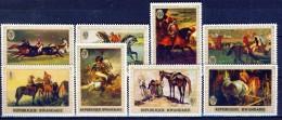 #B907. Ruanda 1970. Paintings. Horses. Michel 367-74. MNH(**)